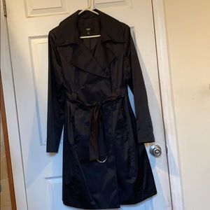 Mossimo Long Black Trench Coat Size XL